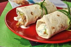 Shawarmas con priorità bassa colourful Fotografia Stock