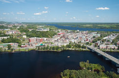 Shawinigan Quebec Aerial View Royalty Free Stock Photography