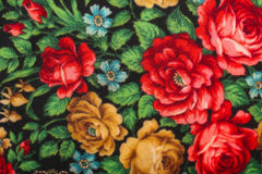 Shawl. Fragment of fabric of the Russian shawl of shawl Royalty Free Stock Photo