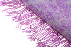 Shawl with fringe Stock Images