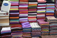 Shawl at a market stock image