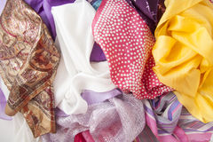 Shawl pile Stock Image