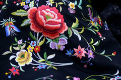 Shawl. Sardinian shawl made with embroidered silk Royalty Free Stock Image