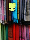 Shawls Pashminas for sale Stock Photo