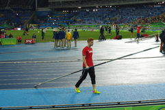 Shawn Barber, Canadian pole vaulter Royalty Free Stock Photo