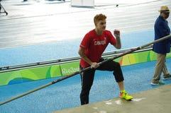 Shawn Barber an den Olympischen Spielen Rio2016 Stockbilder