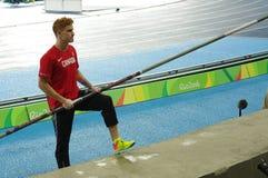 Shawn Barber på olympiska spel Rio2016 Royaltyfri Foto