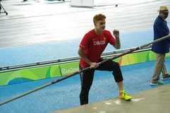 Shawn Barber at Rio2016 Olympic games Stock Images