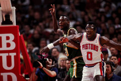 Shawn Kemp, Seattle Sonics Royalty-vrije Stock Foto