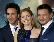 Shawn Levy, Amy Adams and Jeremy Renne Royalty Free Stock Images
