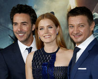 Shawn Levy, Amy Adams and Jeremy Renne Stock Photo