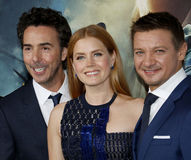 Shawn Levy, Amy Adams and Jeremy Renner Royalty Free Stock Images