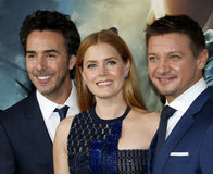 Shawn Levy, Jeremy Renner and Amy Adams Royalty Free Stock Images