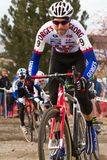 Shawn Mitchell  - Masters Cyclocross Racer Stock Photo