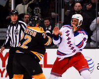 Shawn Thornton fighting Donald Brashear Royalty Free Stock Photo