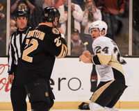 Shawn Thornton and Matt Cooke Fight Royalty Free Stock Photo