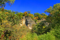 Shawnee Bluffs Landscape Illinois Stock Image