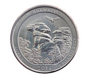 Shawnee Commemorative Quarter Coin Fotografia de Stock