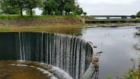 Shawnee del lago, Topeka, aliviadero de KS fotografía de archivo libre de regalías