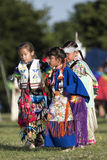 Shawnee Indian Children bij pow-wauw Stock Fotografie