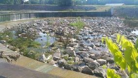 Shawnee lake dam royalty free stock photos