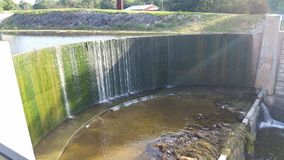 Shawnee lake dam Stock Photo