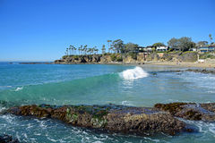 Shaws Cove, Laguna Beach, California. Stock Photos