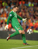 Shay Given. Manchester City international Irish goalkeeper Shay Given during the match 44th Trophy Joan Gamper between FC Barcelona and Manchester City at Nou Royalty Free Stock Photos