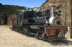 Shay Locomotive. On Display In Georgetown Colorado stock photo