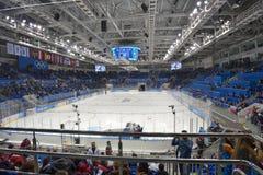 Shayba arena i Sochi Arkivfoto