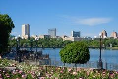 Shcherbakova-Park in Donetsk Lizenzfreies Stockfoto