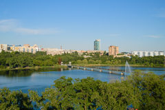 Shcherbakova-Park in Donetsk Stockbilder
