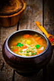 Shchi, traditional Russian soup from cabbage. Royalty Free Stock Photos