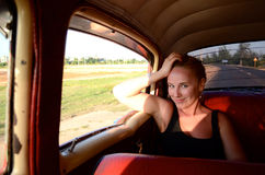Free She Is Smiling In The Car Royalty Free Stock Photography - 22783637