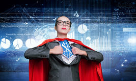 She Is Super Financier Royalty Free Stock Photography