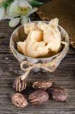 Shea butter amd shea nuts Stock Image