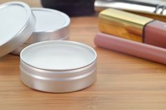 Shea butter perfect lip balm. Royalty Free Stock Photography