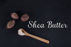 Shea butter and shea nuts Royalty Free Stock Images