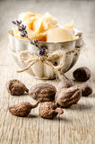 Shea nuts and butter Stock Images