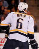 Shea Weber, Nashville Predators. Nashville Predators defenseman Shea Weber #6 Royalty Free Stock Photography