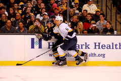 Shea Weber v. Tyler Seguin (Predators v. Bruins ) Stock Photography