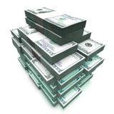 sheaf 100 dollas τραπεζογραμματίων Στοκ εικόνες με δικαίωμα ελεύθερης χρήσης