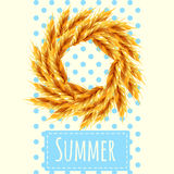 Sheaf as a symbol of the summer and autumn Royalty Free Stock Photos