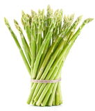 Sheaf of asparagus. Sheaf of asparagus stands on a white background Stock Photography
