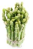 Sheaf of asparagus on a white. Stock Photos