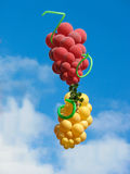 Sheaf of balloons in the form of grapes cluster Stock Photo