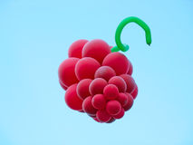 Sheaf of balloons in the form of grapes cluster ag Royalty Free Stock Photo