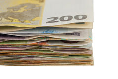 Sheaf banknotes Royalty Free Stock Image