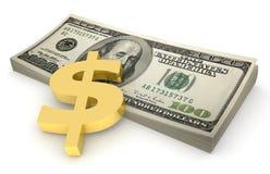 Sheaf of dollars #4 stock image