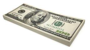 Sheaf of dollars stock image